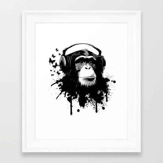 Monkey Business - White Framed Art Print