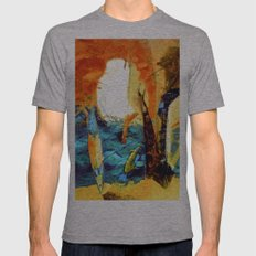 Hot Sand, Salt Fish, Oce… Mens Fitted Tee Athletic Grey SMALL