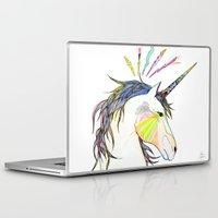 unicorn Laptop & iPad Skins featuring Unicorn by Belén Segarra