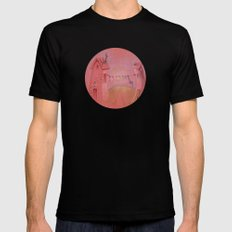 Houses in the sunset SMALL Black Mens Fitted Tee