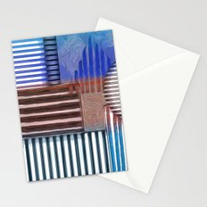 Polygons in Blue Stationery Cards
