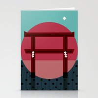 Snowing Sunset Stationery Cards