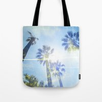 Faded Palms Tote Bag