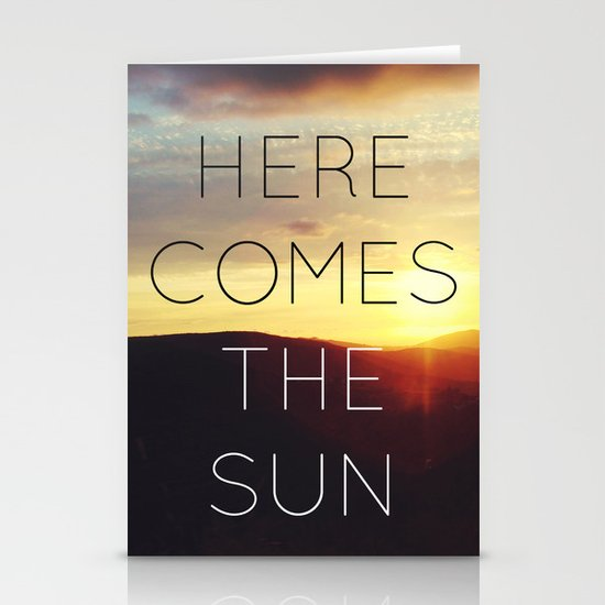 Here It Comes Stationery Card
