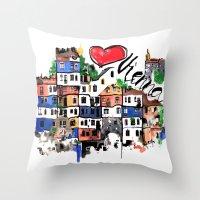 I Love Vienna  Throw Pillow