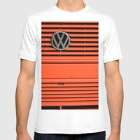 Red Volkswagen Mens Fitted Tee White SMALL