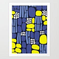 pebbles and sticks Art Print