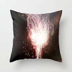 fireworks tracer Throw Pillow