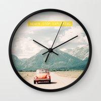 NEVER STOP EXPLORING V -… Wall Clock