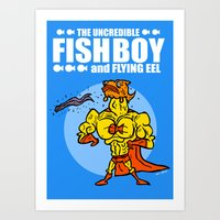 The Uncredible Fish Boy and Flying Eel! Art Print