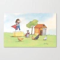 Supergirl Canvas Print