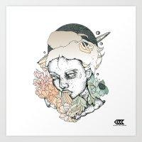 space between Art Print