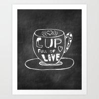 Cup Full Of Love Chalkbo… Art Print