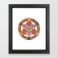 Pyramid Mandala Framed Art Print