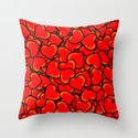 Hearts. Throw Pillow
