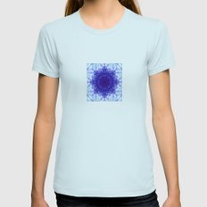 JELLYFISH ROSE 3 Womens Fitted Tee Light Blue SMALL