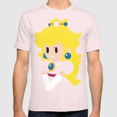 Princess Peach - Minimalist  Mens Fitted Tee SMALL Light Pink