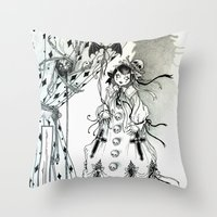 Apparitia Doll Throw Pillow