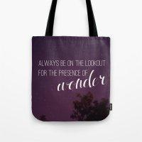 Presence Of Wonder. Tote Bag