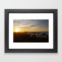 SUNSET - MONTEREY CALIFO… Framed Art Print