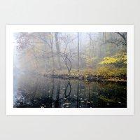 mist on the river Art Print