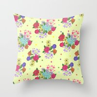 Flowers [yellow] Throw Pillow