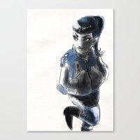 Rockgirl Canvas Print