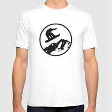 snowboarding 1 Mens Fitted Tee White SMALL