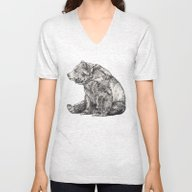 Bear // Graphite Unisex V-Neck