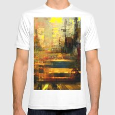 hot afternoon SMALL Mens Fitted Tee White