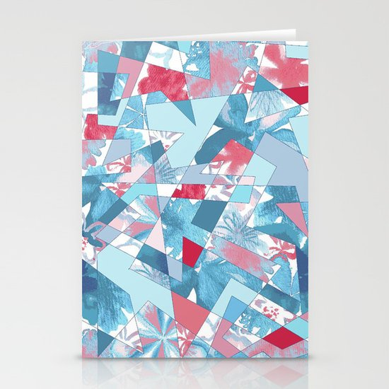 Shattered Floral Stationery Card