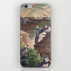 Cliffside Puffins iPhone & iPod Skin