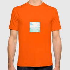 ocean  Mens Fitted Tee Orange SMALL