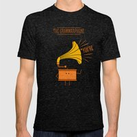 Grammarphone Mens Fitted Tee Tri-Black SMALL
