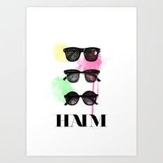 Haim (colour version) Art Print