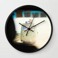 on the road::kenya Wall Clock