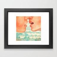 Framed Art Print featuring California Kiss by Kate Tova