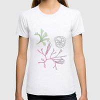 Seaweed and Lotus Root Womens Fitted Tee Ash Grey SMALL