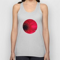Red Gerber Daisy Unisex Tank Top