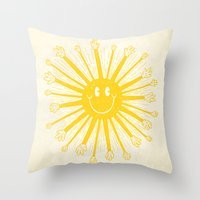 Heat Wave Throw Pillow