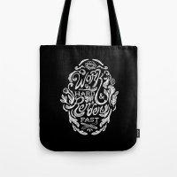 Work Hard & Render Fast Floral Tote Bag