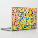 SWEPT AWAY 2 - Vibrant Colorful Rainbow Mango Yellow Waves Mermaid Splash Abstract Acrylic Painting Laptop & iPad Skin