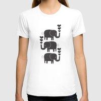 elephants T-shirts featuring ELEPHANTS by Matthew Taylor Wilson
