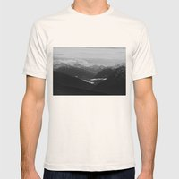 Mountain Landscape Black and White Mens Fitted Tee Natural SMALL