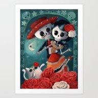 El Dia De Los Muertos Et… Art Print