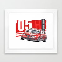WTCC 2005 - Gabriele Tarquini Framed Art Print