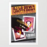Erykah Badu aka DJ Lo Down Loretta Brown San Francisco Event Poster Art Print