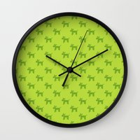 Dogs-Green Wall Clock