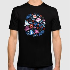 Little Birds SMALL Mens Fitted Tee Black