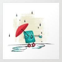 Rain Is Bad For Robots Art Print